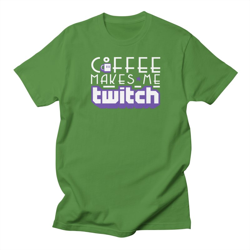 Coffee Makes Me Twitch Men's Regular T-Shirt by HIDENbehindAroc's Shop