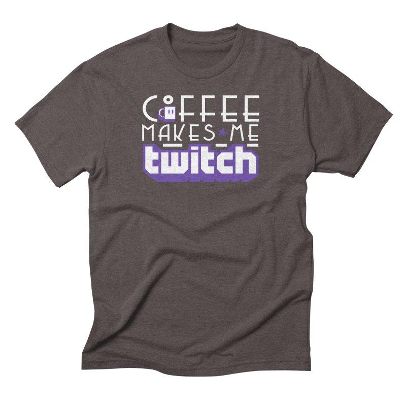 Coffee Makes Me Twitch Men's Triblend T-Shirt by HIDENbehindAroc's Shop