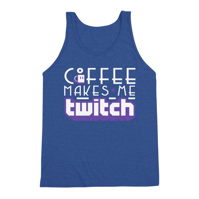 Coffee Makes Me Twitch Men's Tank by HIDENbehindAroc's Shop