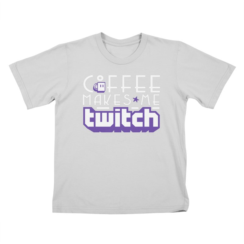 Coffee Makes Me Twitch Kids T-Shirt by HIDENbehindAroc's Shop