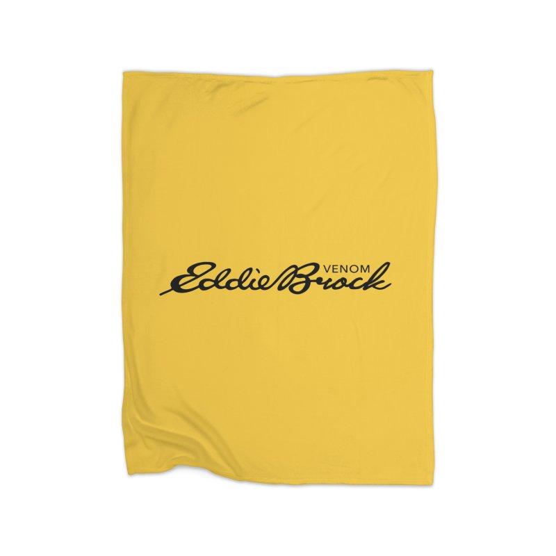 Eddie Brock Venom Home Fleece Blanket Blanket by HIDENbehindAroc's Shop