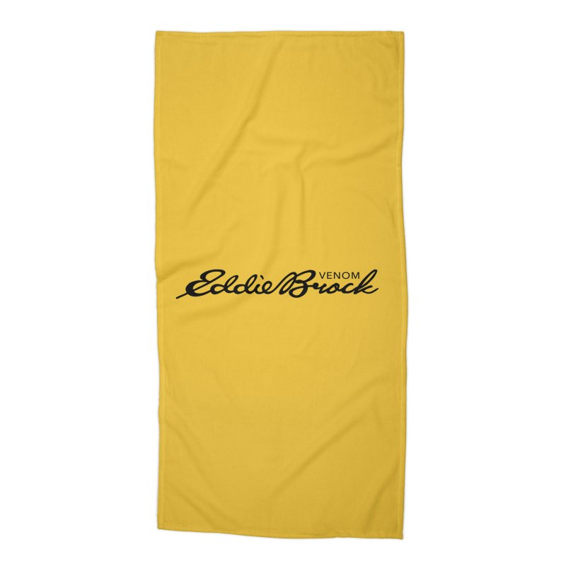 Eddie Brock Venom Accessories Beach Towel by HIDENbehindAroc's Shop