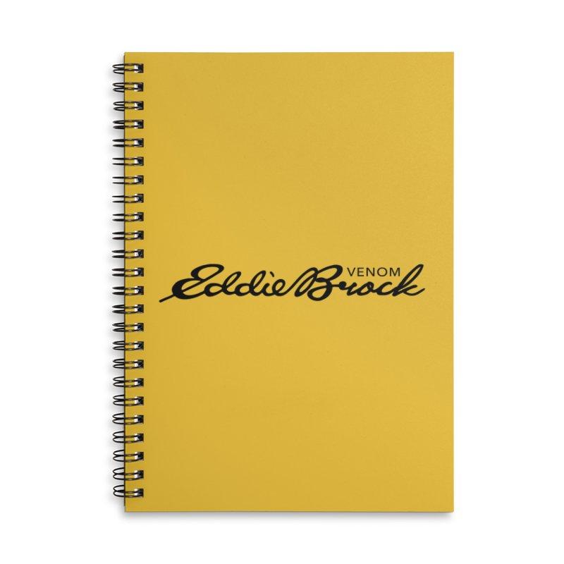 Eddie Brock Venom Accessories Lined Spiral Notebook by HIDENbehindAroc's Shop