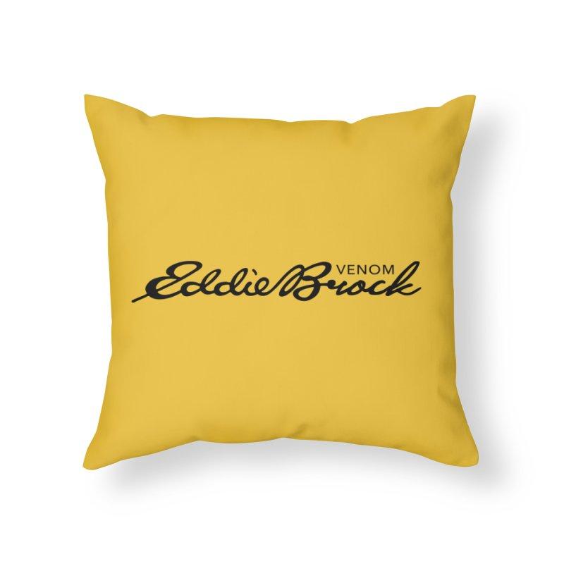 Eddie Brock Venom Home Throw Pillow by HIDENbehindAroc's Shop