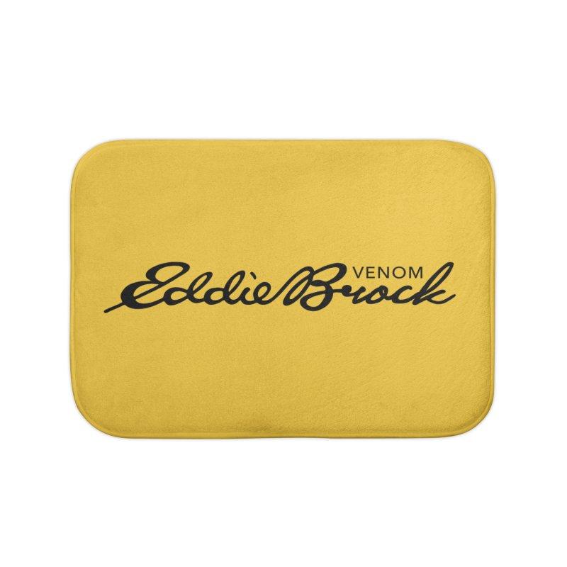 Eddie Brock Venom Home Bath Mat by HIDENbehindAroc's Shop