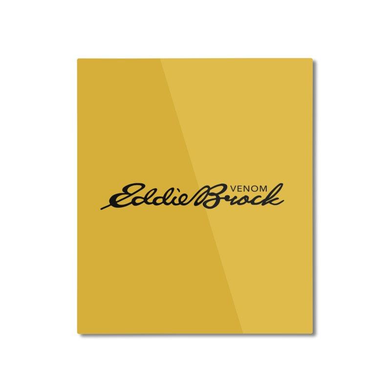 Eddie Brock Venom Home Mounted Aluminum Print by HIDENbehindAroc's Shop