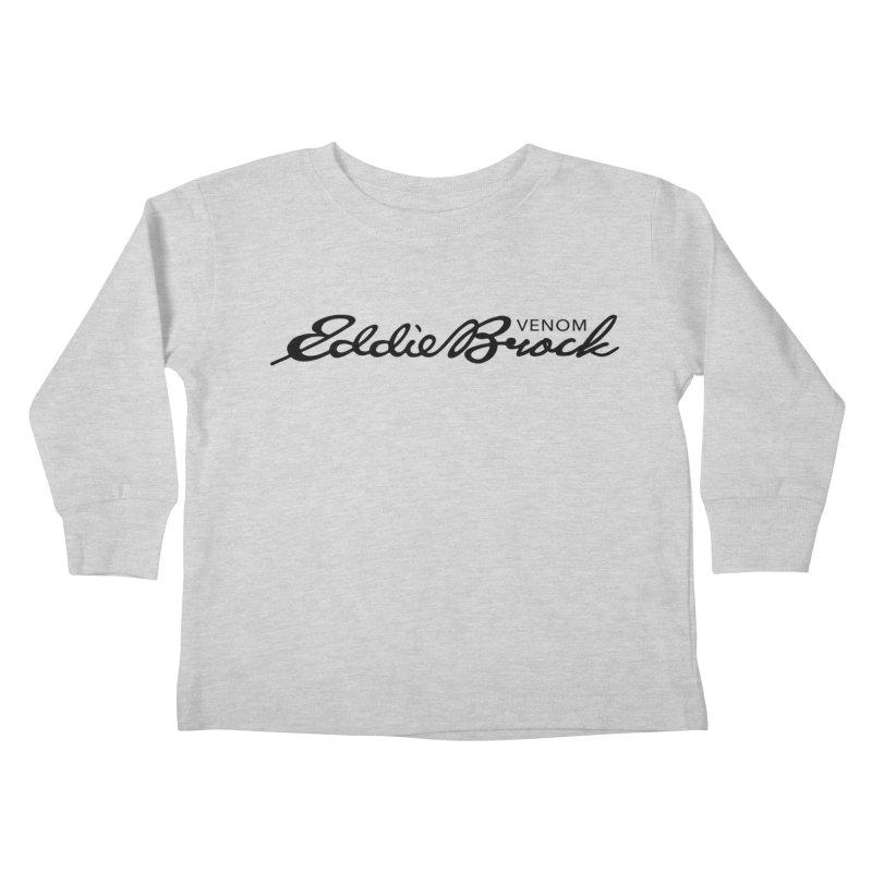 Eddie Brock Venom Kids Toddler Longsleeve T-Shirt by HIDENbehindAroc's Shop
