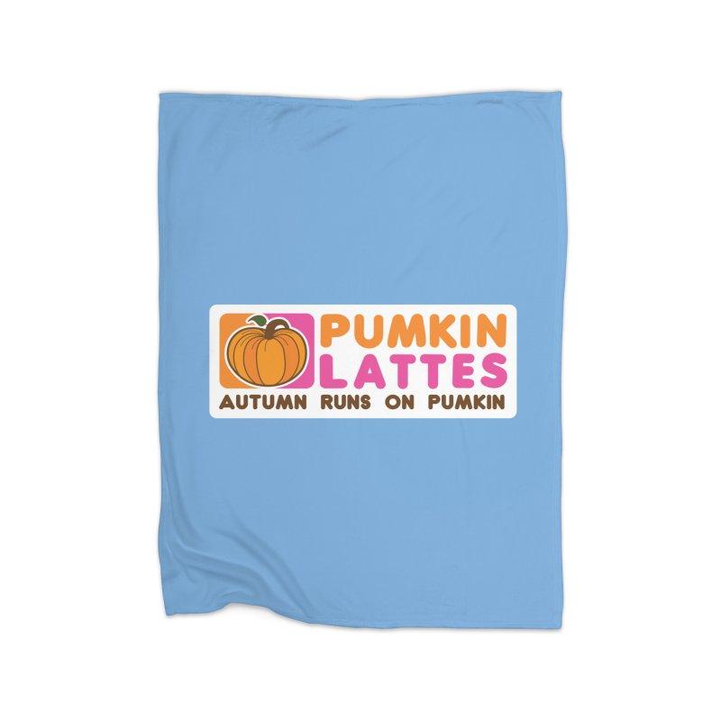 Pumpkin Lattes Home Fleece Blanket Blanket by HIDENbehindAroc's Shop
