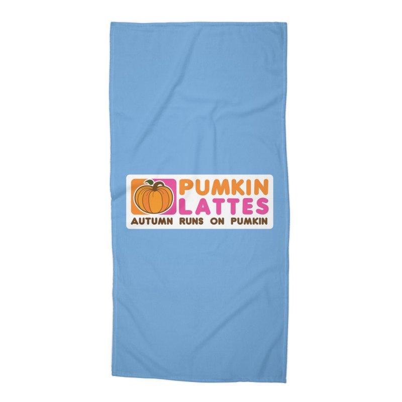 Pumpkin Lattes Accessories Beach Towel by HIDENbehindAroc's Shop
