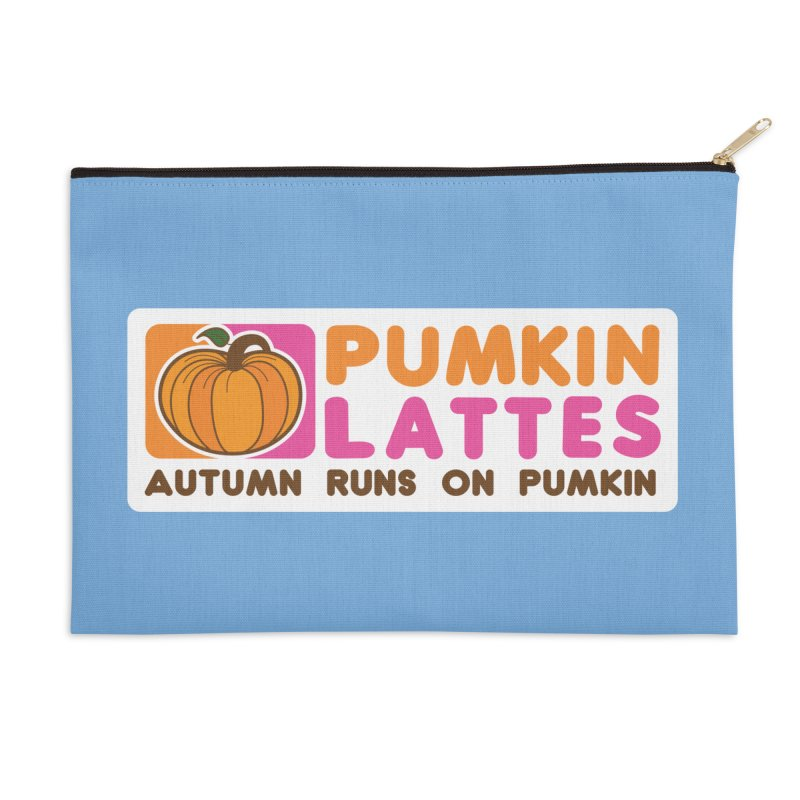 Pumpkin Lattes Accessories Zip Pouch by HIDENbehindAroc's Shop