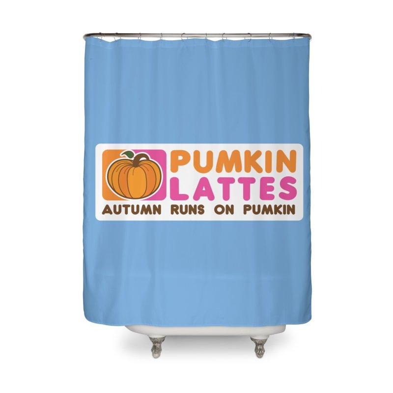 Pumpkin Lattes Home Shower Curtain by HIDENbehindAroc's Shop