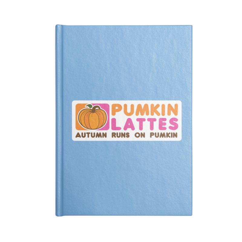Pumpkin Lattes Accessories Lined Journal Notebook by HIDENbehindAroc's Shop