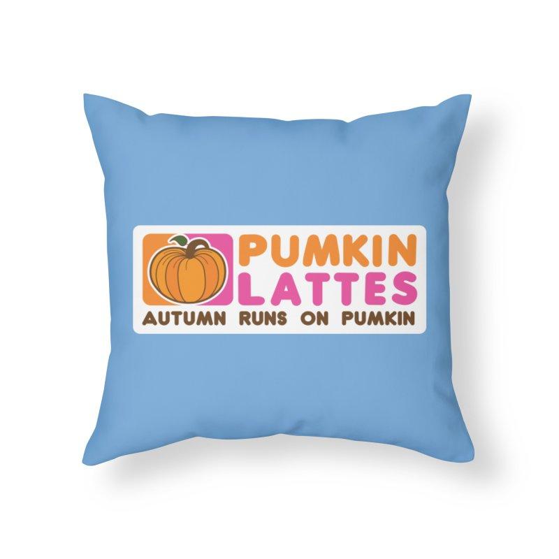 Pumpkin Lattes Home Throw Pillow by HIDENbehindAroc's Shop