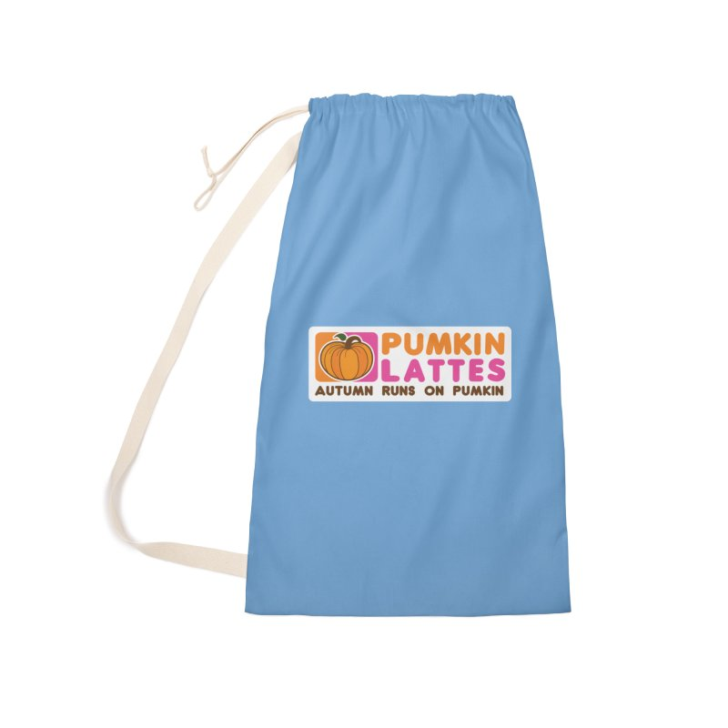 Pumpkin Lattes Accessories Laundry Bag Bag by HIDENbehindAroc's Shop