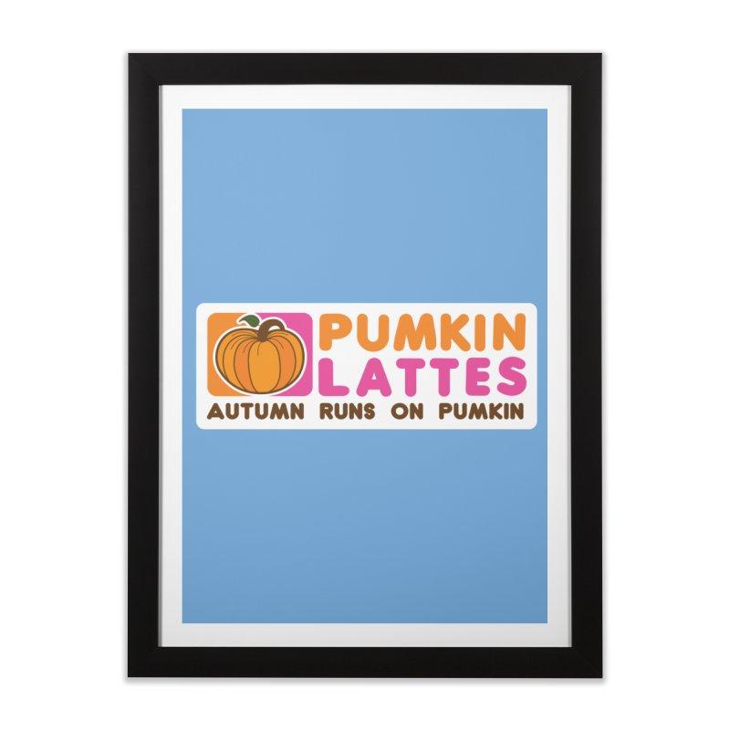 Pumpkin Lattes Home Framed Fine Art Print by HIDENbehindAroc's Shop