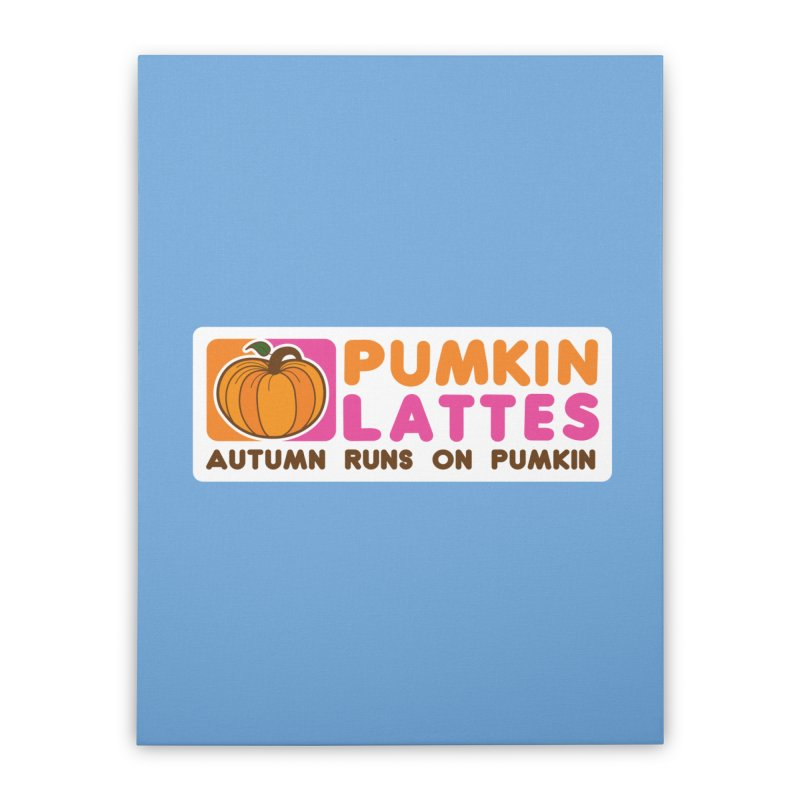 Pumpkin Lattes Home Stretched Canvas by HIDENbehindAroc's Shop
