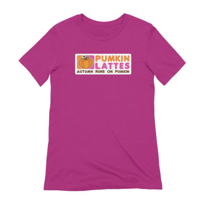 Pumpkin Lattes Women's Extra Soft T-Shirt by HIDENbehindAroc's Shop