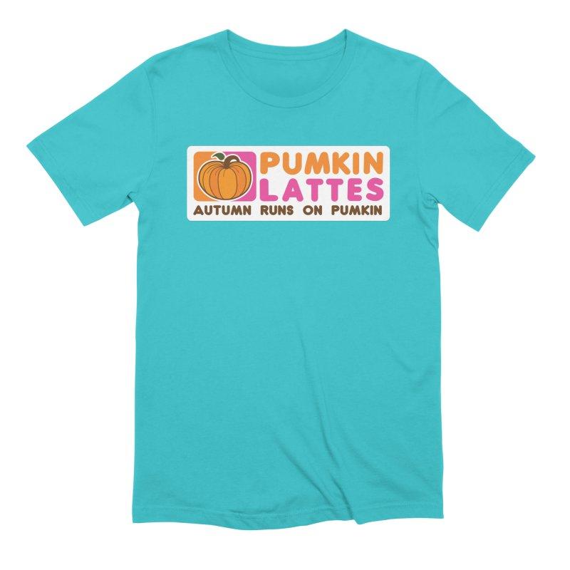 Pumpkin Lattes Men's Extra Soft T-Shirt by HIDENbehindAroc's Shop