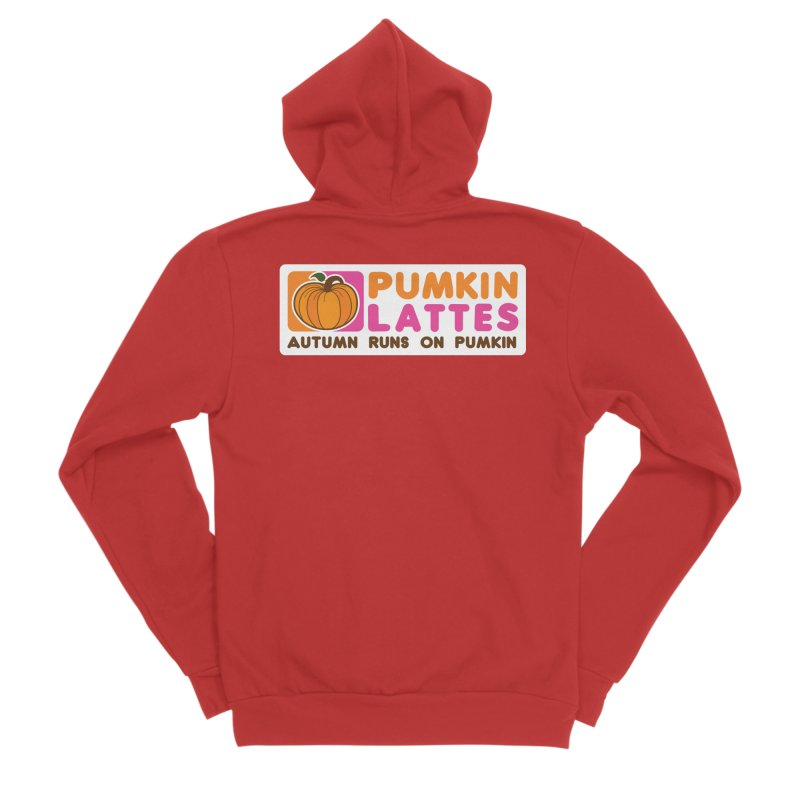Pumpkin Lattes Men's Zip-Up Hoody by HIDENbehindAroc's Shop
