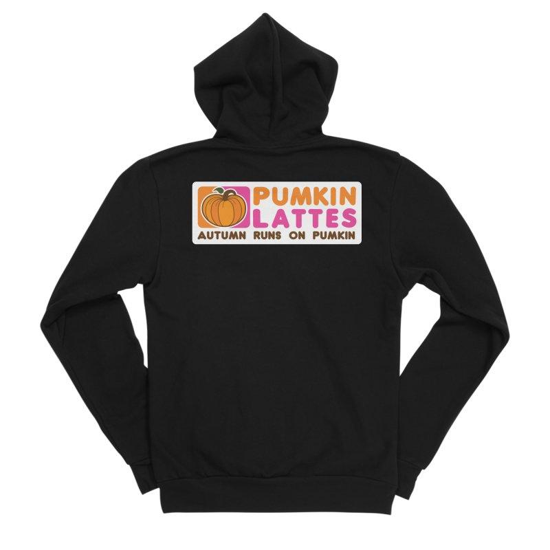 Pumpkin Lattes Men's Sponge Fleece Zip-Up Hoody by HIDENbehindAroc's Shop