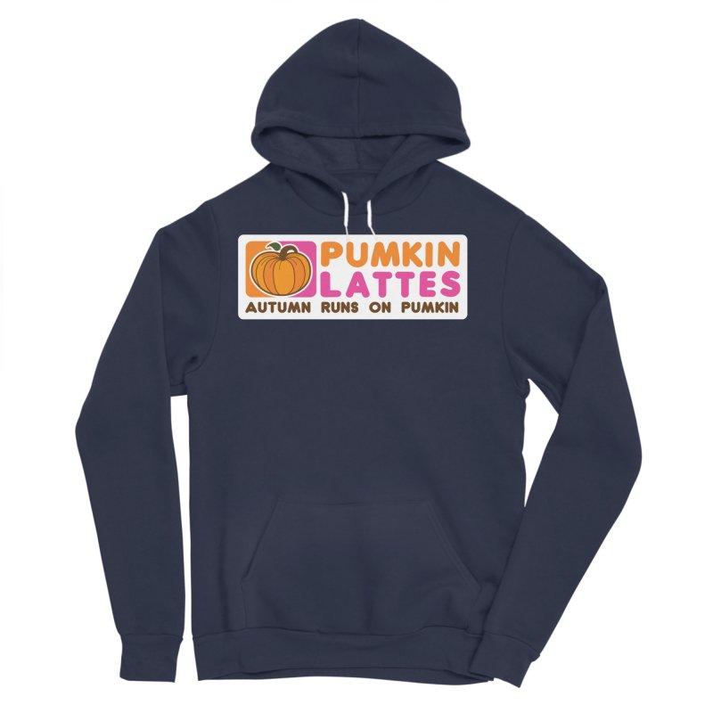 Pumpkin Lattes Men's Sponge Fleece Pullover Hoody by HIDENbehindAroc's Shop