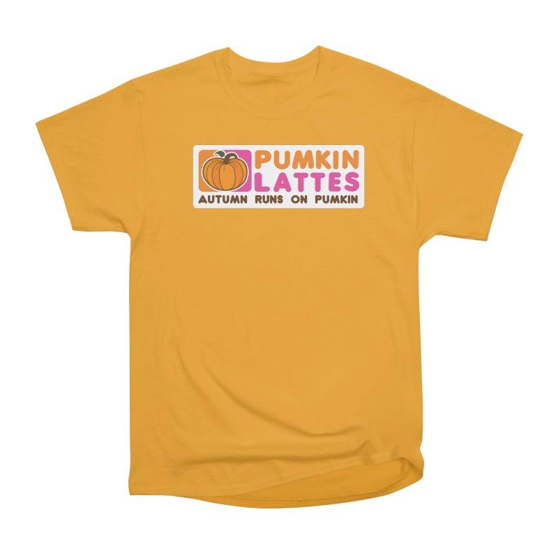Pumpkin Lattes Women's Heavyweight Unisex T-Shirt by HIDENbehindAroc's Shop