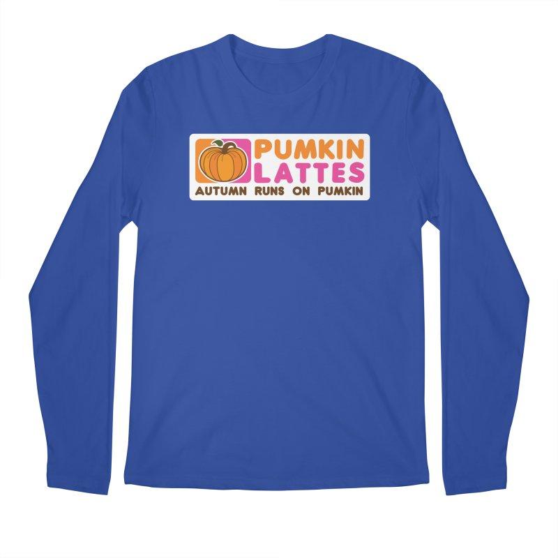 Pumpkin Lattes Men's Longsleeve T-Shirt by HIDENbehindAroc's Shop