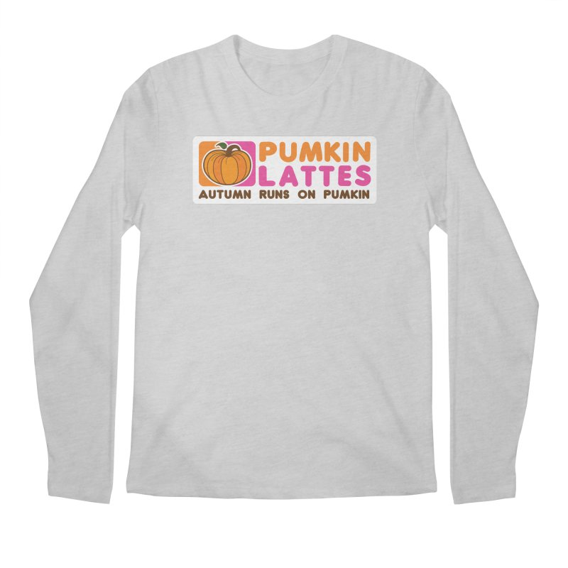 Pumpkin Lattes Men's Regular Longsleeve T-Shirt by HIDENbehindAroc's Shop
