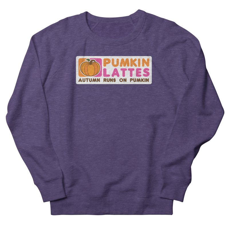 Pumpkin Lattes Men's French Terry Sweatshirt by HIDENbehindAroc's Shop