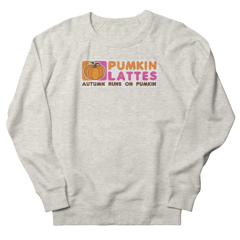 Pumpkin Lattes Men's French Terry Sweatshirt by HIDENbehindAroc's Shop