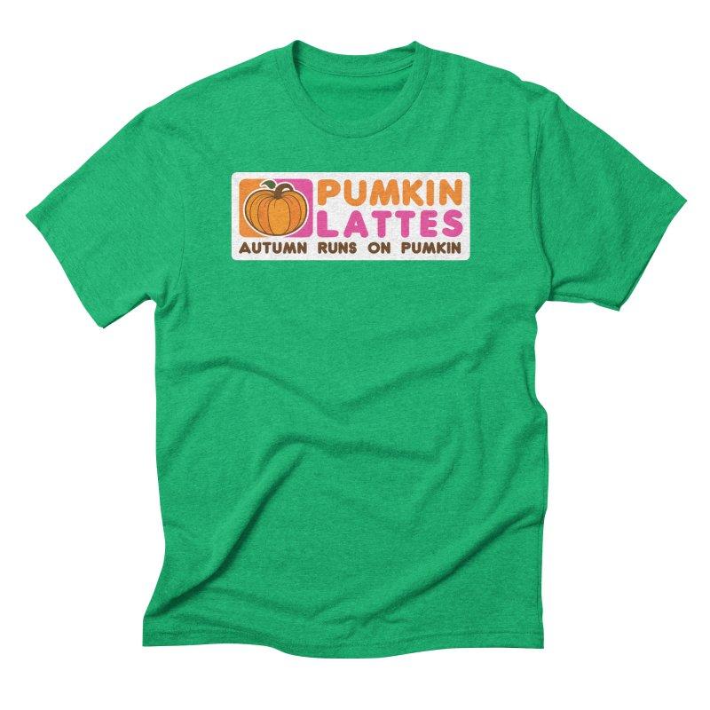 Pumpkin Lattes Men's Triblend T-Shirt by HIDENbehindAroc's Shop