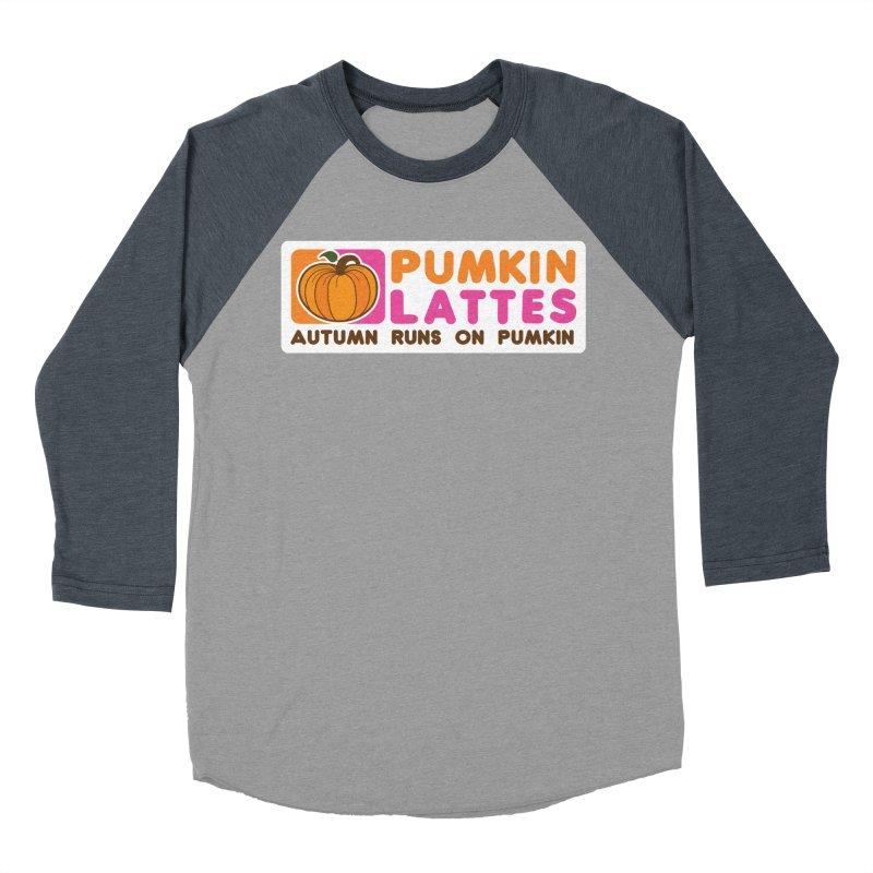 Pumpkin Lattes Women's Baseball Triblend Longsleeve T-Shirt by HIDENbehindAroc's Shop