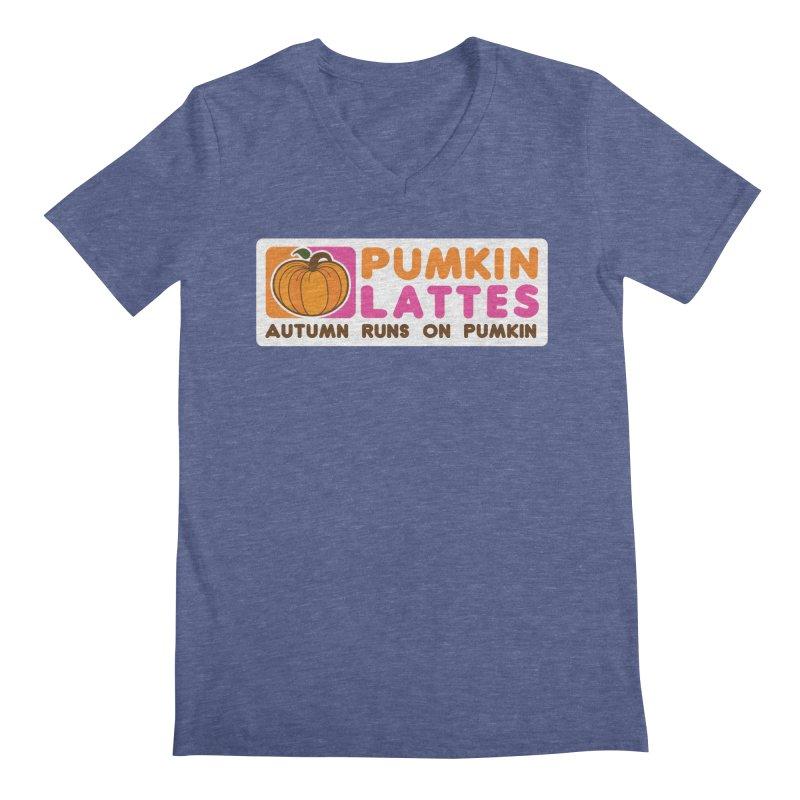 Pumpkin Lattes Men's V-Neck by HIDENbehindAroc's Shop