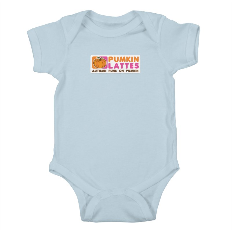 Pumpkin Lattes Kids Baby Bodysuit by HIDENbehindAroc's Shop
