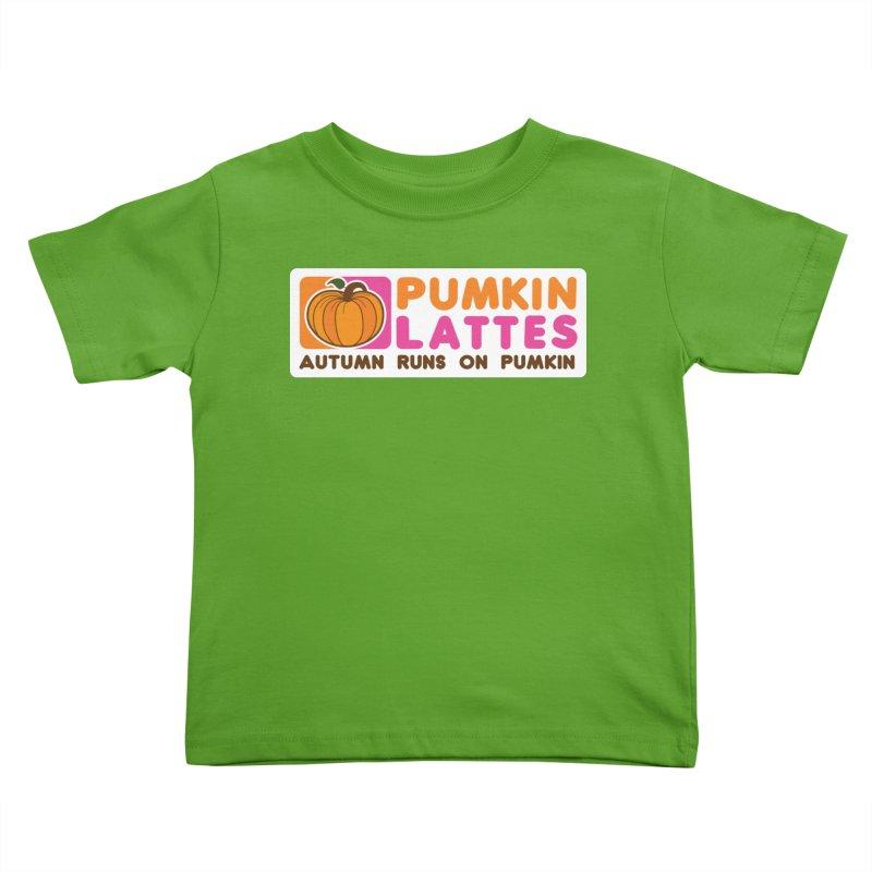 Pumpkin Lattes Kids Toddler T-Shirt by HIDENbehindAroc's Shop