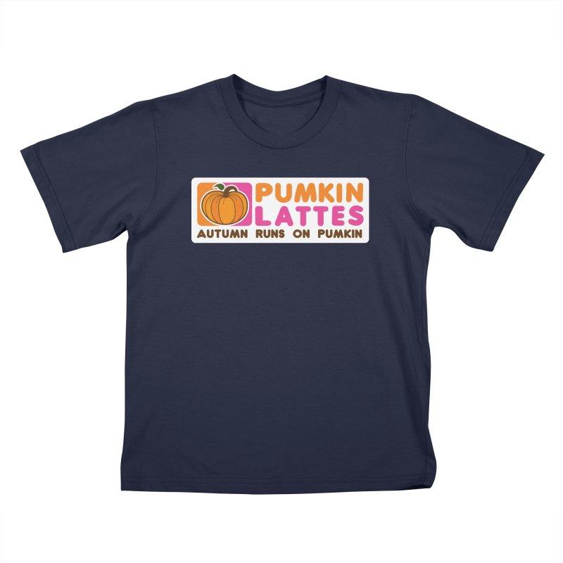 Pumpkin Lattes Kids T-Shirt by HIDENbehindAroc's Shop