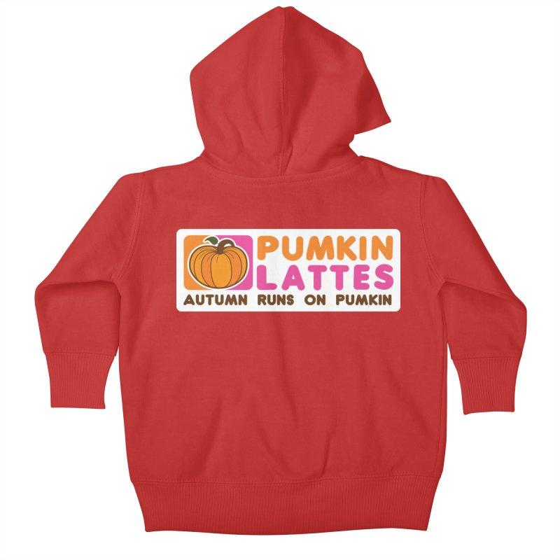 Pumpkin Lattes Kids Baby Zip-Up Hoody by HIDENbehindAroc's Shop
