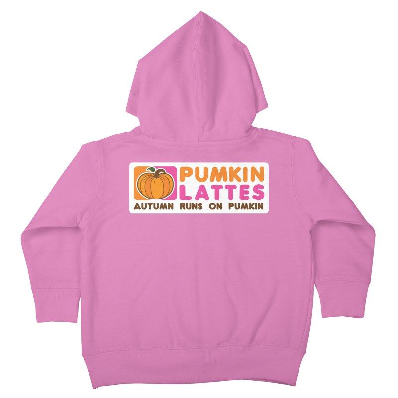 Pumpkin Lattes Kids Toddler Zip-Up Hoody by HIDENbehindAroc's Shop