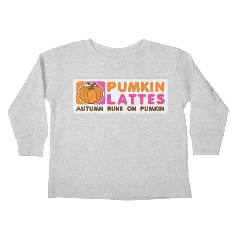 Pumpkin Lattes Kids Toddler Longsleeve T-Shirt by HIDENbehindAroc's Shop