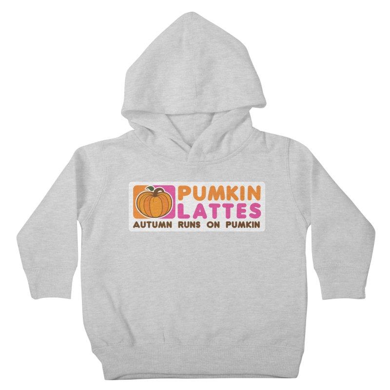 Pumpkin Lattes Kids Toddler Pullover Hoody by HIDENbehindAroc's Shop