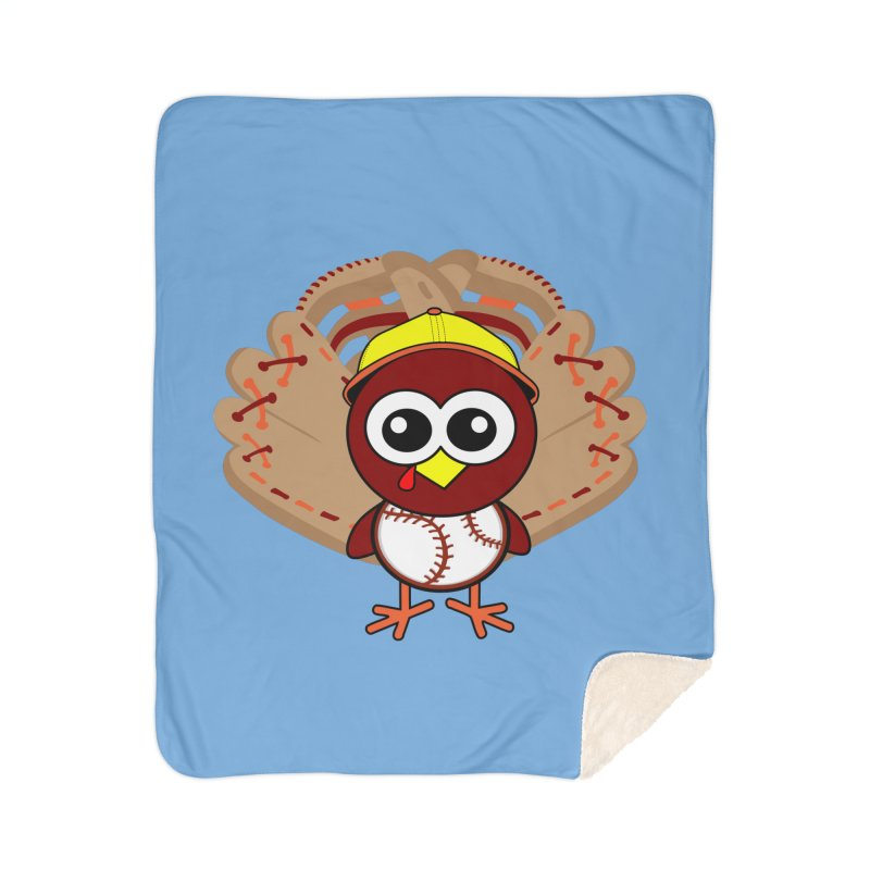 Turkey Time! Home Sherpa Blanket Blanket by HIDENbehindAroc's Shop