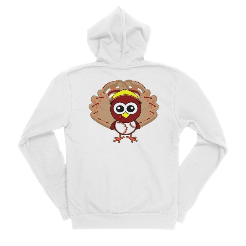 Turkey Time! Men's Sponge Fleece Zip-Up Hoody by HIDENbehindAroc's Shop