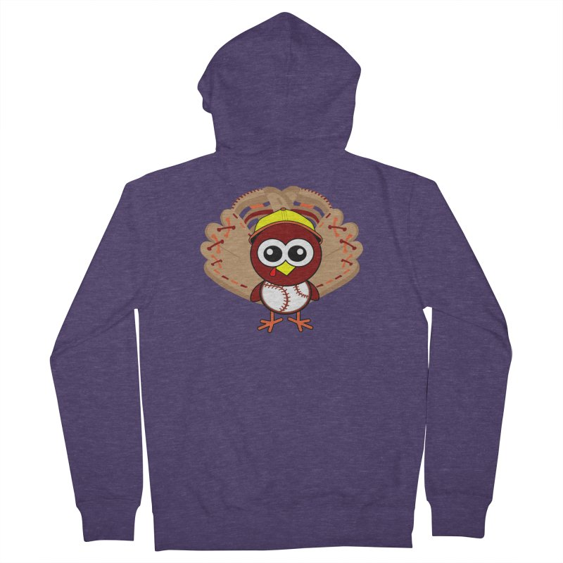 Turkey Time! Men's French Terry Zip-Up Hoody by HIDENbehindAroc's Shop