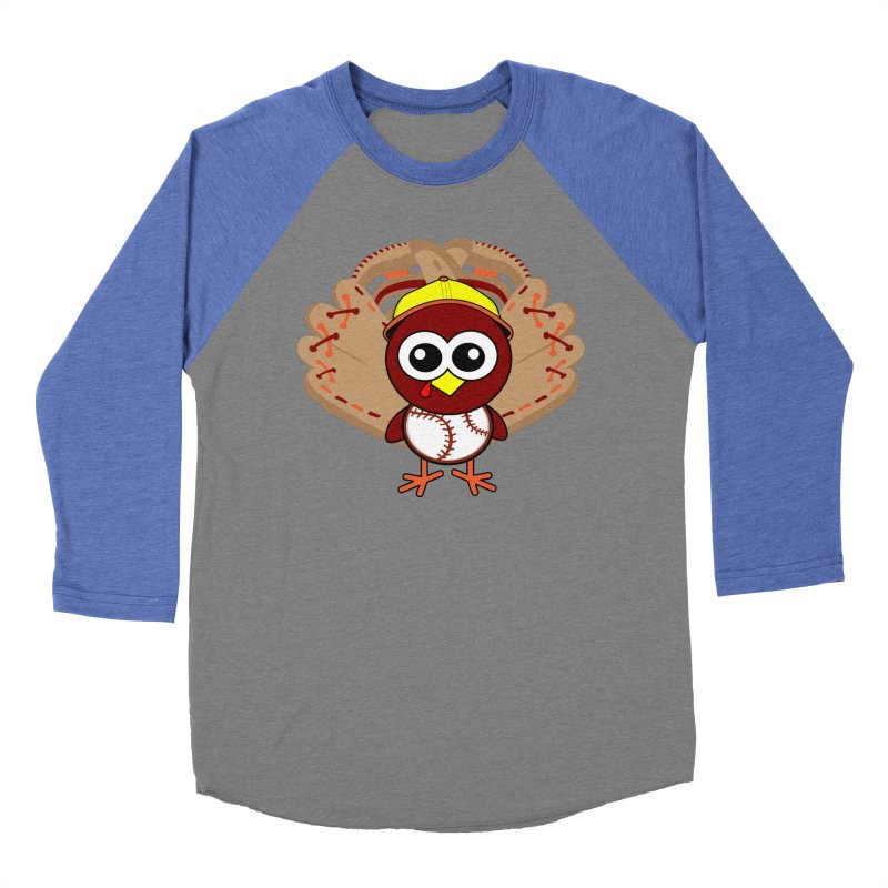 Turkey Time! Women's Baseball Triblend Longsleeve T-Shirt by HIDENbehindAroc's Shop