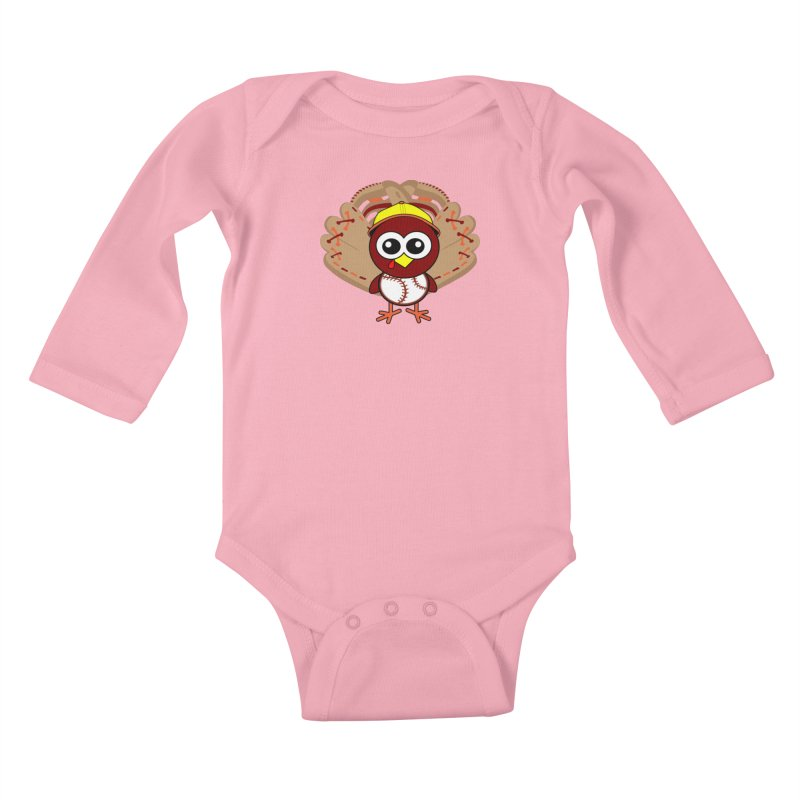 Turkey Time! Kids Baby Longsleeve Bodysuit by HIDENbehindAroc's Shop
