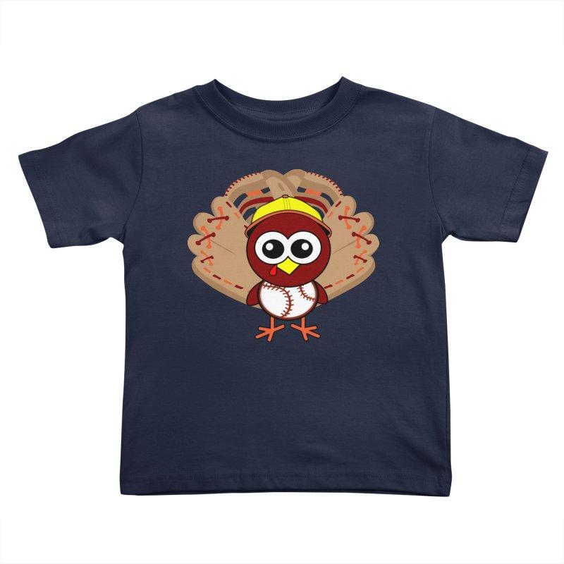 Turkey Time! Kids Toddler T-Shirt by HIDENbehindAroc's Shop