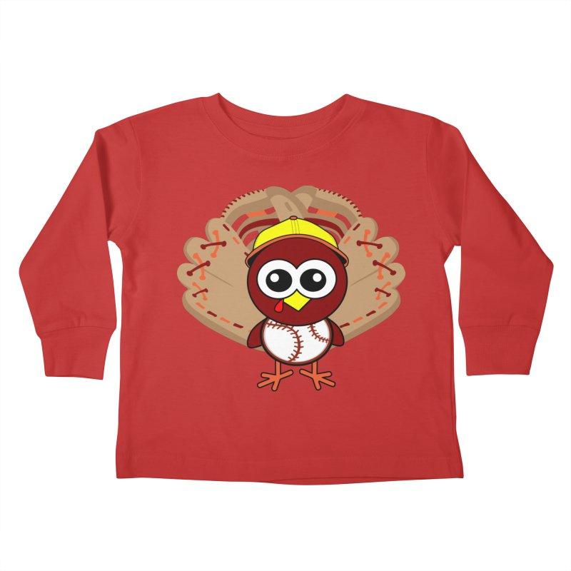 Turkey Time! Kids Toddler Longsleeve T-Shirt by HIDENbehindAroc's Shop