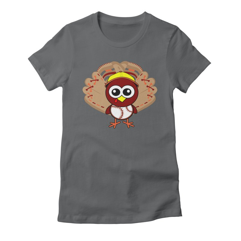 Turkey Time! Women's Fitted T-Shirt by HIDENbehindAroc's Shop
