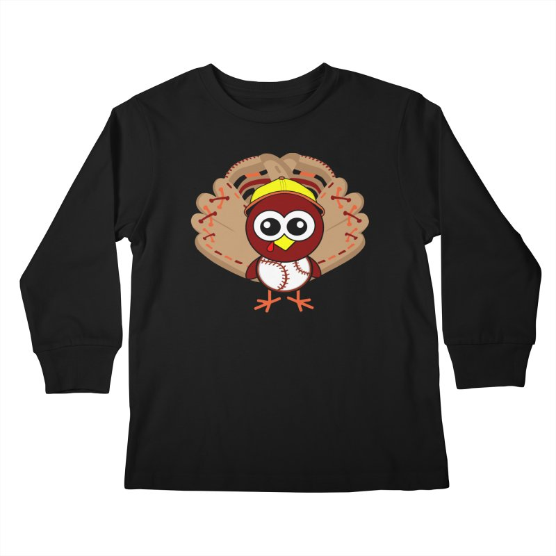 Turkey Time! Kids Longsleeve T-Shirt by HIDENbehindAroc's Shop
