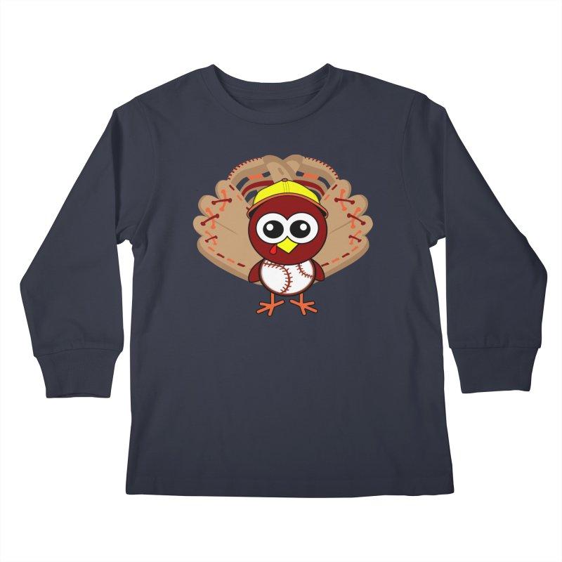 Turkey Time! Kids Longsleeve T-Shirt by HIDENbehindAroc's Shop